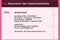 association des hyperinsulinismes