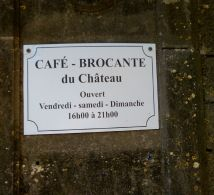 Plaque du Café Brocante a Colombier-37a765