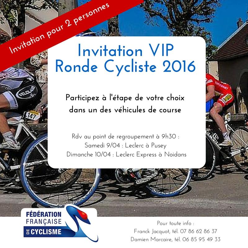 Gagnez votre Pass VIP pour la Ronde Cycliste