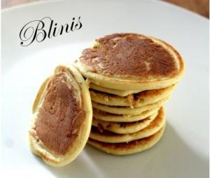 Blinis au curry