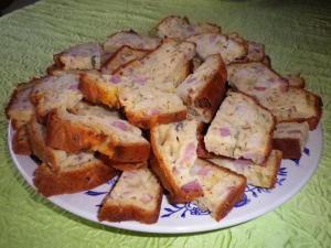 Cake poireaux lardons