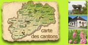 Carte des cantons de Haute-Saône