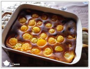 Clafoutis amandes et abricot
