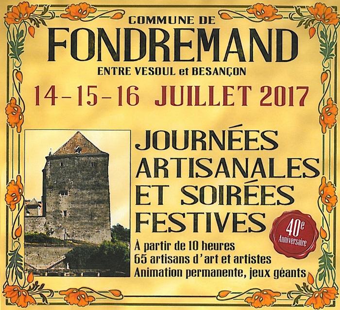 Journées artisanales de Fondremand