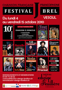 Festival Jacques Brel 2010