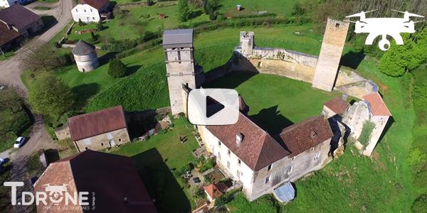 Le château d'Oricourt vu du ciel