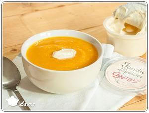 Soupe de potiron et carotte