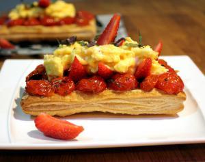 Tarte fraise et tomate