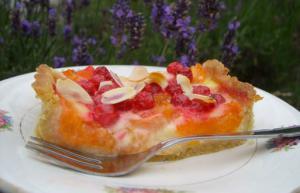 Tarte gourmande aux abricots et aux groseilles