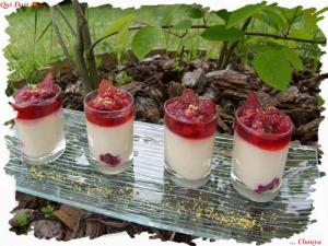 Verrines coco et fruits rouges