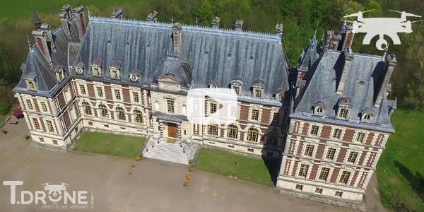 Le château de Villersexel vu par drone